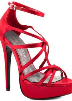 Adrienne Maloof Women's Ysabel – Red Satin #red
