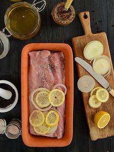 Schab pieczony z musztardą i miodem - receptura inspirowana przepisem Pani Neli Rubinstein Lamb Recipes, Cooking Recipes, My Favorite Food, Favorite Recipes, Food To Make, Catering, Cooker, Pork, Food And Drink