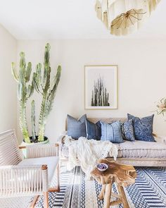 No longer on the fence about incorporating a cactus in our living room We have officially been swayed. Thanks for the design inspo @mydomaine.  by @alyssarosenheck.