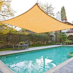 Oversized Square Feet Desert Sand Color Outdoor Sun Shade Sail Canopy w/ Ropes Carabiners Bag UV Block Shelter Patio Swimming Pool Party Camping Portable Garden Canopy, Patio Canopy, Canopy Outdoor, Indoor Outdoor, Window Canopy, Tree Canopy, Canopy Tent, Pool Shade, Patio Shade