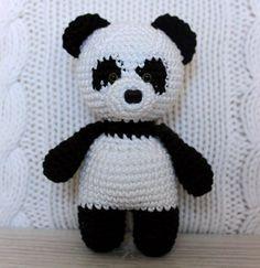 Панда амигуруми схема игрушки крючком