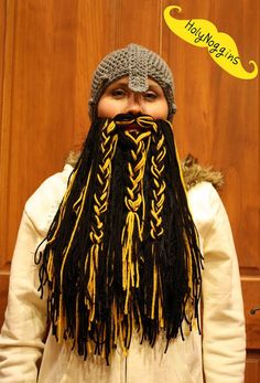 Hobbit Viking Beard and Hat Choose your beard color by HolyNoggins, $60.00
