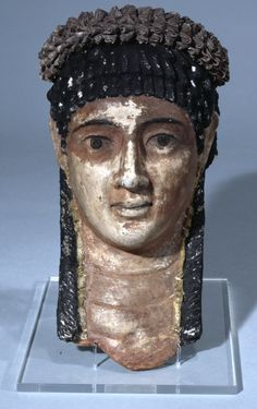 ancientpeoples:  Mummy mask of a woman c. AD 100-120 Roman Egypt (Source: The British Museum)