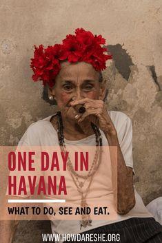 What to do, see and taste with one day in Cuba's capital city of Havana. Cuba Travel Destinations | Cuba Backpacking | Cuba Vacation North America #travel #vacation #backpacking #budgettravel #offthebeatenpath #bucketlist #wanderlust #Cuba #NorthAmerica #exploreCuba #visitCuba
