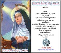 Imágenes de Cecill: Estampita Oración a Santa Rita de Casia