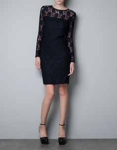 STRAIGHT LACE DRESS @ZARA