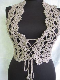 Crochet  Vest by StudioCybele on Etsy, $42.00