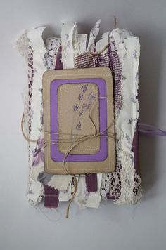 Rustic Lavender Wedding Guestbook Notebook Diary by CraftPointPL