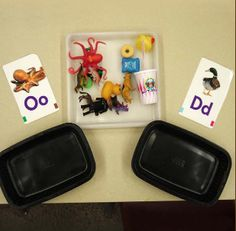 This engaging activity provides students with a fun way to identify & categorize phonemes. The alphabet bins include lots of diverse materials that could be from the classroom, student homes, or community. When the students match the items with the correct phoneme, it requires them to pay attention to the initial sound of the word. This activity is useful & effective because it promotes independence & gives many opportunities for students to use necessary skills for building phonemic…