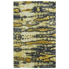 Kaleen Brushstrokes Gold Rectangular Indoor Handcrafted Distressed Throw Rug (Common: 2 X 3; Actual: 2-Ft W X 3-Ft L) Br