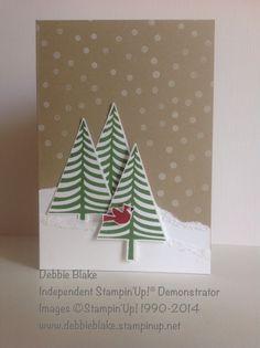 Stampin' Up! Festival of Trees Stamp Set. Debbie Blake Independent Stampin' Up! Demonstrator. Christmas 2014