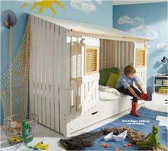 hochbett bett kinderbett mit rutsche kinderzimmer jugendzimmer ... - Kinder Abenteuerbett Hochbett Ideen Kinderzimmer