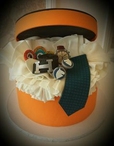 Hermes Gift Box cake by Vanilla Bake Shop