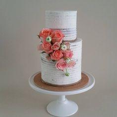 Vintage Naked Floral Cake