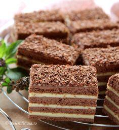 Romanian Desserts, Romanian Food, Sicilian Recipes, Greek Recipes, India Food, Cream Cake, Tiramisu, Sweet Treats, Deserts