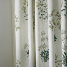 IYUEGO Country Botanical Grass Print Cotton Linen Eco-Friendly Grommet Top Lining Blackout Window Curtains/Drape/Panels/Treatment with Multi Size Custom W x L (One Panel) Cheap Curtains, Floral Curtains, Drapes Curtains, Blackout Windows, Blackout Curtains, Botanical Bedroom, Apartment Curtains, Country Curtains, Curtain Patterns