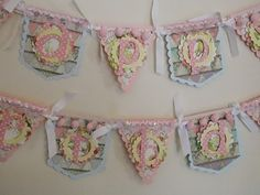 Shabby Chic Birthday Banner Shabby Chic by SweetPickledPosies