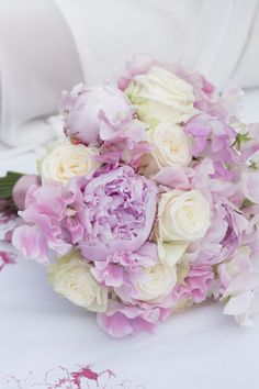 Beautiful soft pastel colored bouquet