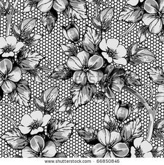 Find Flowers Apple Drawing Engraving Freehand Realistic stock images in HD and millions of other royalty-free stock photos, illustrations and vectors in the Shutterstock collection. Tattoo Sleeve Filler, Sleeve Tattoos, Fill In Tattoo Ideas, Lace Wallpaper, Tattoo Background, Victorian Illustration, Blooming Flowers, Flower Patterns, Coloring Books