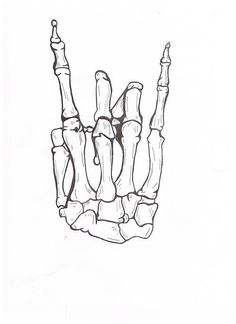 skeletons, bones, hands, rock n roll, hand signs