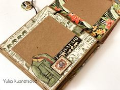 Safari Adventure Box & Album By Yulia Kuznetsova Products by Graphic 45 Safari Adventure - Deluxe Collector's Edition, Kraft Chipboard Sheets, Ornate Metal Corners, Claw Feet, Lion's Head Knocker Safari Adventure, Memory Album, Travel Kits, Graphic 45, Mini Albums, Paper Crafts, City Scapes, Chipboard, Box