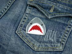 This ferocious embroidered patch.