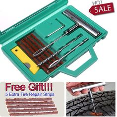 11X Professional T Car Motorcycle Heavy Duty Tubeless Tyre Puncture Mending Tool