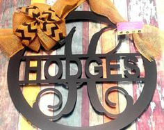 Door wreath, Monogram Door Sign, Door Decor, Metal Sign, Gifts for her, Front Door Sign, Metal Monogram, Housewarming Gift, Wedding Gift, B -    Edit Listing  - Etsy
