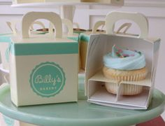 Design Packaging's – Cupcake packaging to ensure your frosting survives the bike ride home.