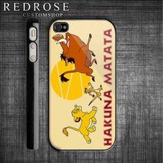 HAKUNA MATATA Lion King iPhone 4 case  iPhone by redrosecustomshop