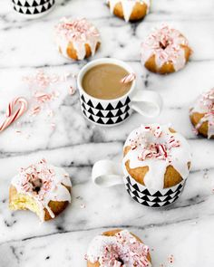 The only thing better than peppermint bark? Peppermint bark donuts- what's your holiday brunch must-have? @brittnimehlhoff