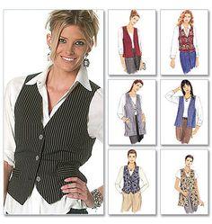 Tunic Vest  Misses Vest  Vest Pattern  New by YourSewingBasket