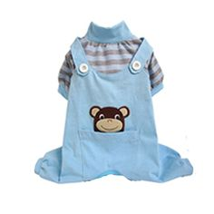 Animal Overalls Dog Pajamas - Monkey at BaxterBoo