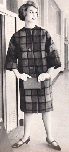 50's glam wool coat