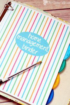 Ideas Diy Organization Binder Free Printables Home Management Printable Planner, Free Printables, Printable Calendars, Binder Templates, Household Binder, Household Notebook, Household Budget, Home Binder, Binder Organization