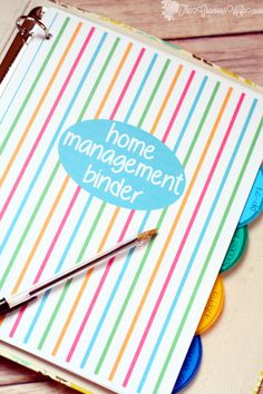 Organize your whole home (and life!) with this DIY Home Manangement Binder.  Get free printables and learn how to set up your own Home Management Binder