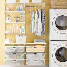 Enjoy loads of style when you install elfa in your laundry room!