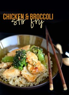 Healthy Chicken and Broccoli Stir Fry - Fit Foodie Finds Wrap Recipes, Asian Recipes, Dinner Recipes, Healthy Recipes, Dinner Ideas, Asian Foods, Meal Ideas, Homemade Stir Fry Sauce, Chicken Broccoli Stir Fry