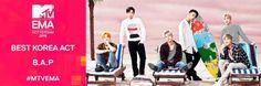 B.A.P crowned the 'Best Korea Act' at the MTV EMA   allkpop Himchan, Youngjae, Big Music, G Friend, Bap, Vixx, Perfect Man, Music Awards, Boy Groups