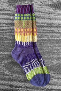 Get ready for fall -- Socks - Hand knit - Wool- Unique Icelandic Design - Multi color - Original design - Washable wool socks.  2.7. LizSox, via Etsy.