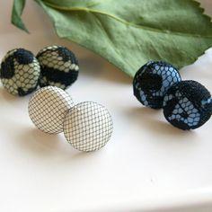 Cute lacy stud earrings. $24 for 3 pair