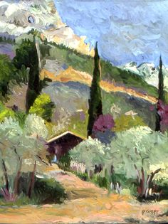 ☼ Painterly Landscape Escape ☼ landscape painting by Paula Griff - Le Trou des Loups