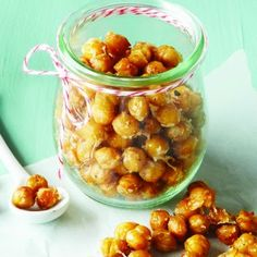 Garlic Parmesan Roasted Chickpeas