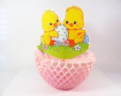 Honeycomb Easter Decoration Vintage by VintageCocobytheLake