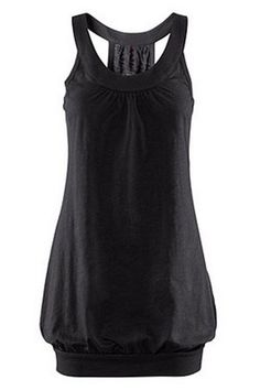 ROMWE | Tightened Hem Black Vest Dress, The Latest Street Fashion http://www.planetgoldilocks.com/womens_clothing.htm