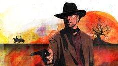 Clint Eastwood's 'Unforgiven' Closed the Book on Movie Westerns 25 Years Ago Cowboy Art, Clint Eastwood, Caricature, Good Movies, My Idol, Westerns, Painting, Image, Cinema