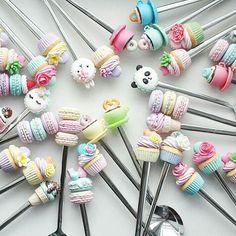 Вкусные ложки, полимерная глина, пластика, polymer clay, spoon, sweet, handmade