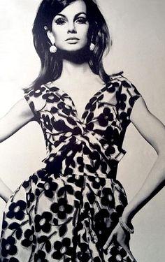 Jean Shrimpton in Vintage Dress 1965