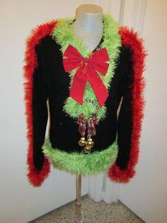 Medium Grinch Ugly Christmas Sweater FOO FOO by MotherFrakers, $50.00