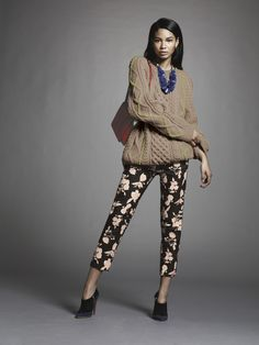 Why not add a Suno sweater to printed pants?